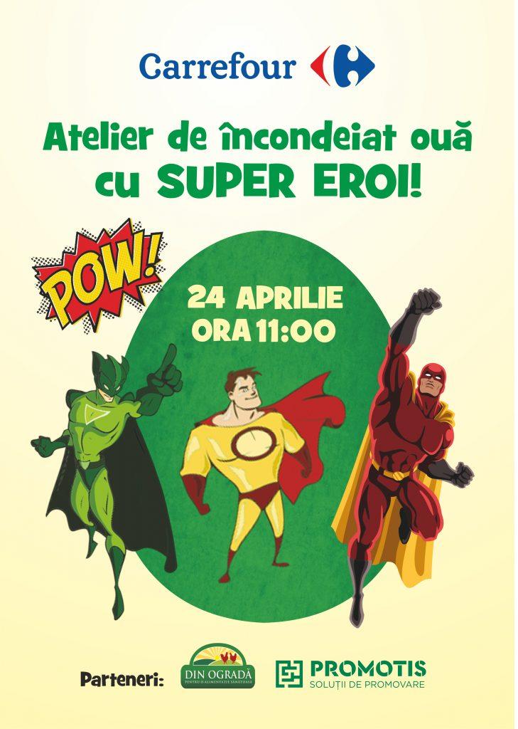 Afis Atelier Super eroi_Carrefour fin